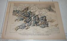 PETIT JOURNAL 1904 GUERRE RUSSIE-JAPON JAPONAIS ATTAQUENT TRAIN PORT-ARTHUR
