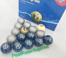 Carlton Blues AFL Pool Snooker Billiards  Balls Aussie Rules Aramith 16 Ball Set
