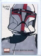 COMMANDER FOX Topps STAR WARS GALAXY 4 SKETCH CARD by BRUCE GERLACH
