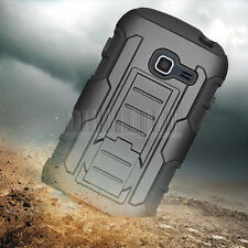 For SAMSUNG GALAXY DISCOVER CENTURA S738C Impact Rugged Armor Case Cover Holster
