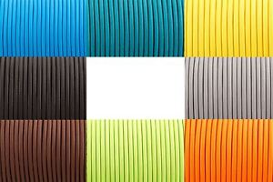 Round Silk Braided Vintage Fabric Coloured Lighting Cable Flex 2 core 0.75mm