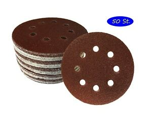 50 Klett-Schleifscheiben Ø 125 mm Körnung 60 für Exzenter-Schleifer 8 Loch