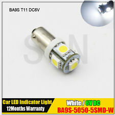 1X 6V BA9S T11 CLASSIC CAR MOTORCYCLE SCOOTER LED BULB GLB951 GLB293