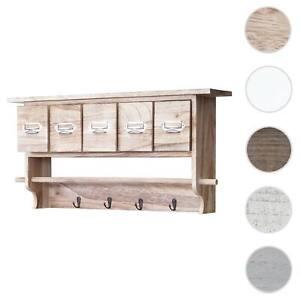 Serie vintage appendiabiti mensola cucina HWC-C49 legno con cassetti