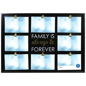 """Farmhouse Collage Picture Frame, Holds 8 4x6   """"Family is Always & Forever"""""""