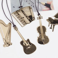 Metal Bookmark Musial Piano Guitar Bookmark for Book Creative Gift Stationery HI
