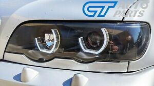 3D LED Dual Halo Black Projector Headlights for 1999-2003 BMW X5 E53