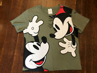 Disney Women's Size XL Green Short Sleeve Mickey Mouse T-Shirt