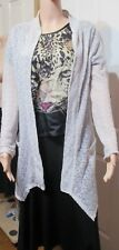 LADIES VALLEY GIRL CREAM SEE THROUGH OVER CARDIGAN WITH POCKETS SIZE M