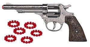 Wildwest Pistole inkl. Munition 36x8 Schuss Cowboy Colt Revolver Platzpatronen