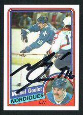 Michel Goulet #129 signed autograph auto 1984-85 Topps Hockey Trading Card