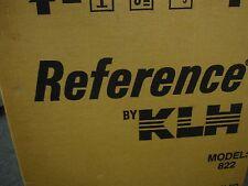 NIB NEW Vintage KLH Model 822 Bookshelf Speakers New Old Stock