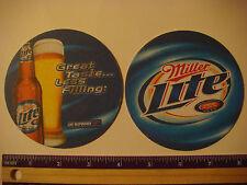 Beer Coaster Mat ~~ MILLER LITE Pilsner ~ Great Taste...Less Filling ~ WISCONSIN