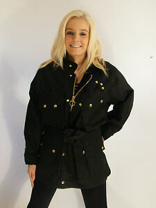 New Made in England Black Wax Belted Motorcycle Jacket Coat XS S M L XL XXL 3XL