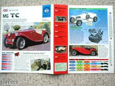1945/1946/1947/1948+ MG TC SPEC SHEET/Brochure/Catalog