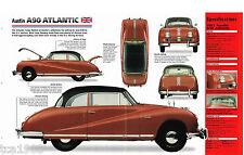 AUSTIN A90/a-90 ATLANTIC IMP FOLLETO: 1950,1951, 1952