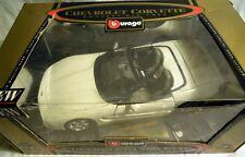 Bburago 3376: Chevrolet Corvette Convertible 1998, Diecast in 1/18, NEU & OVP
