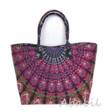 New Indian Shopping Shoulder Bag Women Mandala Tote Beach Towel Carry Bags Throw