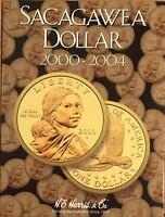 2000 - 2004  SACAGAWEA DOLLAR  COIN FOLDER  H. E. HARRIS / WHITMAN -NEW