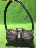 Aristolasia Black Leather Beautiful Rare Handbag Made In ITALY Purse