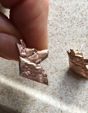 Pr.50s Unworn Silver/Copper Lancashire Heeler Dog Ormskirk Terrier Stud Earrings
