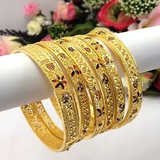 Indian 22ct Gold Plated Bangles Size:2.10 Bridal Party Wear Jewellery Bollywood