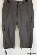 "Dockers Womens 6 Khaki Green 100% Cotton Cropped Pants 20"" Inseam"