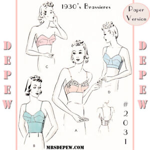 Vintage Sewing Pattern 1930s Long Line or Strapless Bra 32 34 36 38 40 42 44
