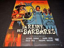 LA REINE DES BARBARES  affiche cinema  1960
