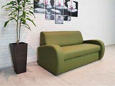 Grünes Echtleder Rindsleder Sofa Couch mit Schlaf Funktion 100% Echt Leder