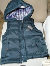 Boys 'Forest Track' Zip Hooded Bodywarmer  2 pockets, Chest 28 cm  6-9 months