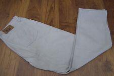 "Lee Cooper Designer Comfort Jeans Da Uomo Gamba Dritta Kaki/BEGE Denim W34"" L30"""