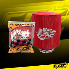 Water Guard Cold Air Intake Pre-Filter Cone Filter Cover for Mustang Large Red