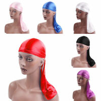Unisex Durag Headwear Headband Pirate Cap Bandana Hat Turban Cap Headwear Hot