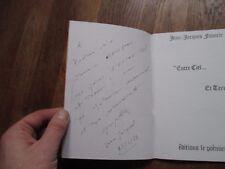 JEAN JACQUES FAVERIE entre ciel terre poesie le poemier 1981 envoi