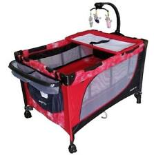 Baby 1st Baby Crib and Playpen (Red)