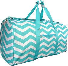 "22"" Women's Chevron Print Gym Dance Cheer Travel Carry On Duffel Bag - Mint"
