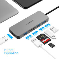 LENTION USB-C Hub to 4K HDMI USB 3.0 Adapter SD Card Reader for 2020 MacBook Pro