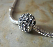 Pave Bead Element Kugel Strass Kristall - plattiert für Armband 0002