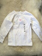 T-shirt manches longues blanc fille Taille 3 Ans