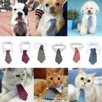 Lovely Dog Cat Animal Cute Striped Tie Collar Pet Adjustable Neck Tie Tuxedo