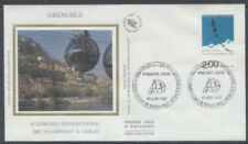 FRANCE FDC - 2480 1 CONGRES DES TRANSPORTS A CABLES - 17 Juin 1987 - LUXE soie