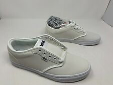 Vans Atwood Leather True White Men's SZ 13 VN0A327LOER