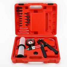 21pc Hand Held Vacuum Pump Tester Set Gauge And Brake Bleeder Kit For Automotive