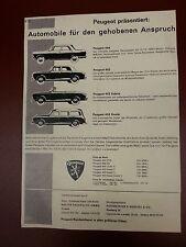 Anzeige Peugeot 404, 403, Kabrio, Kombi von 1961