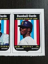 a927f0d2a7 RARE 1989 Ken Griffey Jr Rookie Stars Baseball Card RC Cards Magazine Uncut  80s