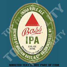 BASS IPA INDIA PALE ALE BEER DECAL STICKER BAR FRIDGE COOLER MANCAVE SHED CAR