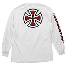 Independent Trucks Bar And Cross Long Sleeve Skateboard Shirt White Large