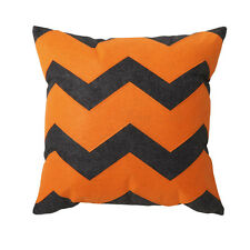 Logan and Mason ZEKE ORANGE Chevron Square Cushion Filled 41 x 41cm ULTIMA NEW