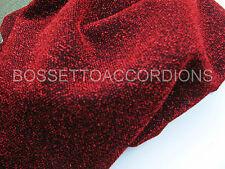 "Accordion Grille Lining Soft Cloth 18"" x 7"" RED / BLACK Akkordeon Ersatzteile"